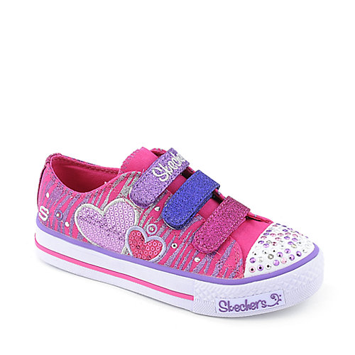 Skechers Twinkle Toes Shuffles-Triple Time youth sneaker