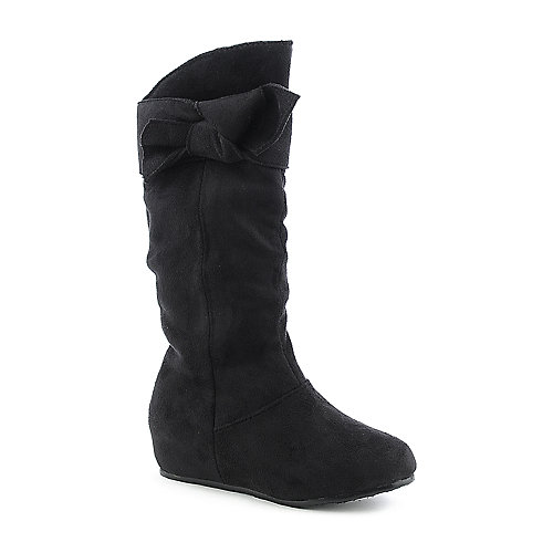 Shiekh Kids Candy-07 black mid calf flat boot