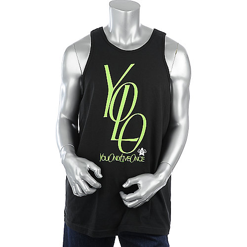 Shooting Star Clothing Yolo Stacked Tank mens tank top