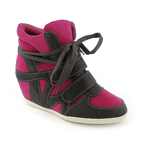 Glaze Alana-1 womens casual lace-up sneaker wedge