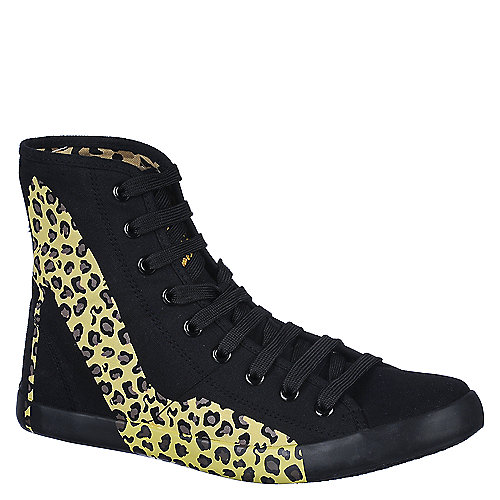 Cute To The Core Womens Pumped black lace up casual sneaker