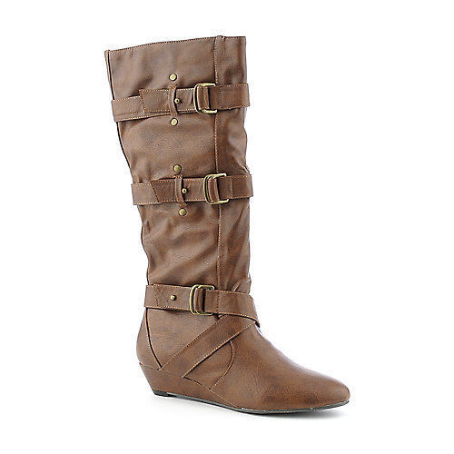 Madden Girl Ilstrate womens cognac boot