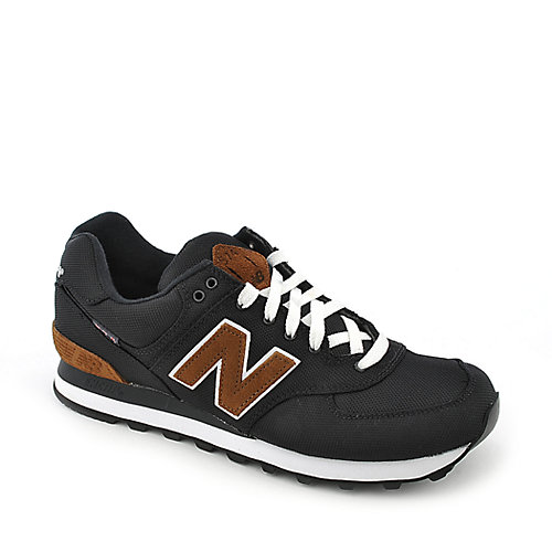 New Balance ML574 mens black athletic lifestyle running sneaker