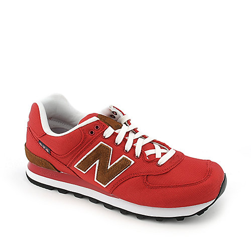 New Balance ML574 mens red athletic lifestyle running sneaker