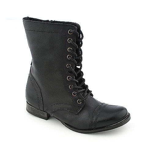 Steve Madden Troopa Womens Combat Boots | Military Boots | Black Boots