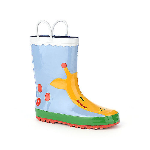 Shiekh Kids S Rain Boot blue giraffe rain boot