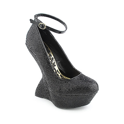 Shiekh Luminous womens dress evening platform glitter wedge