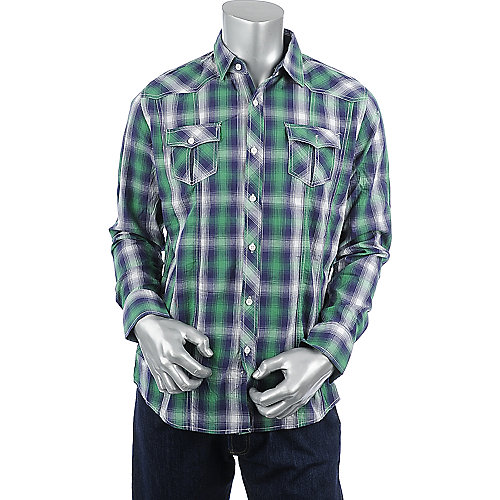 Jordan Craig Legacy Edition Plaid Long Sleeve Shirt mens shirt