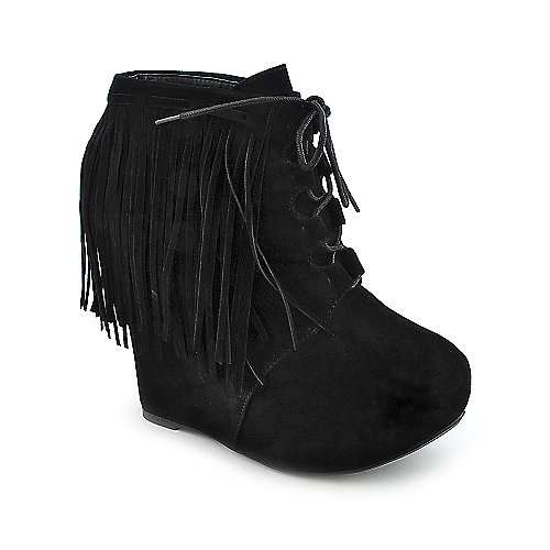 Privileged Nissa womens wedge platform ankle boot