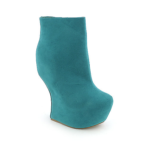 Glaze Addicted-4 womens ankle platform wedge heel-less boot