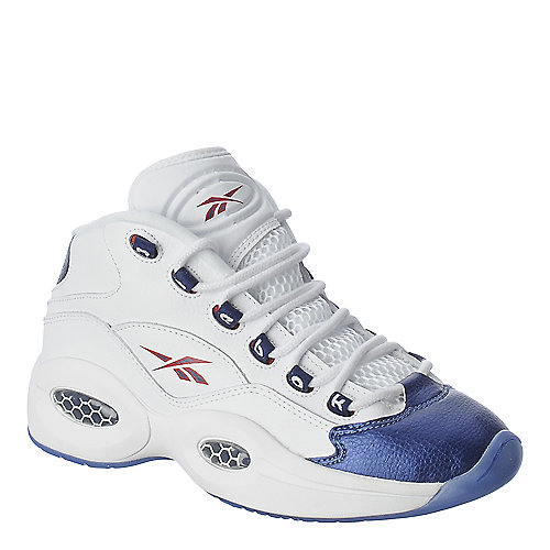 Reebok Kids Question Mid White Athletic Basketball Shoe
