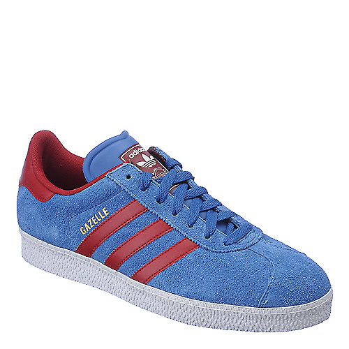 Adidas Gazelle II blue and red athletic lifestyle sneaker