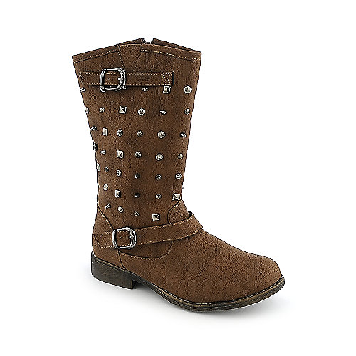 Shiekh Tommy-04 womens mid-calf low heel western riding boots