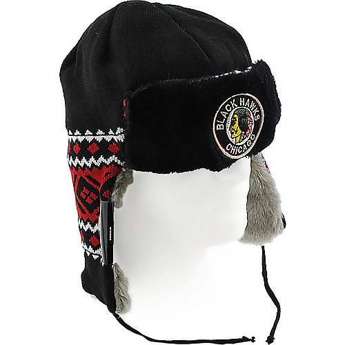 New Era Chicago Blackhawks Team Trapper knit trapper