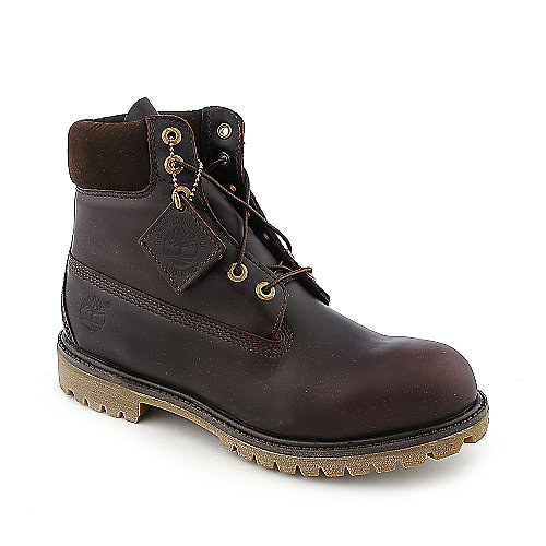 Timberland AF 6 in boot mens burgundy casual boot