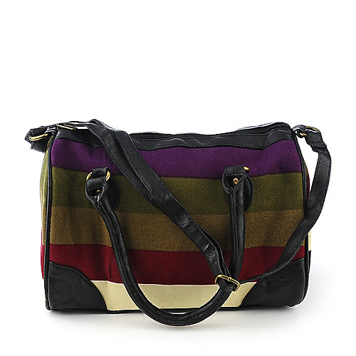 Elleven  K. Striped Knit Satchel accessories handbag