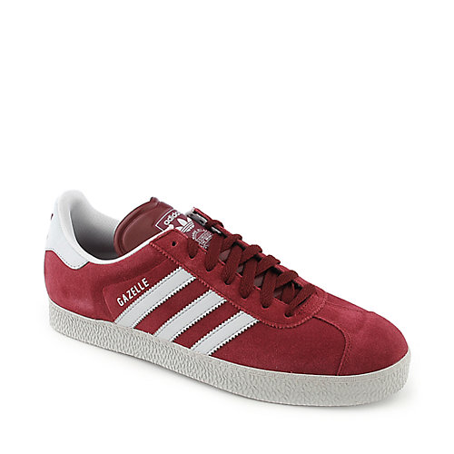 Adidas Gazelle II mens red an white athletic basketball sneaker