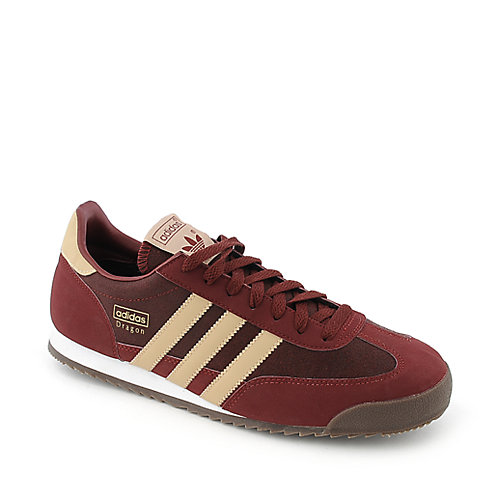 Adidas Dragon maroon athletic running sneaker