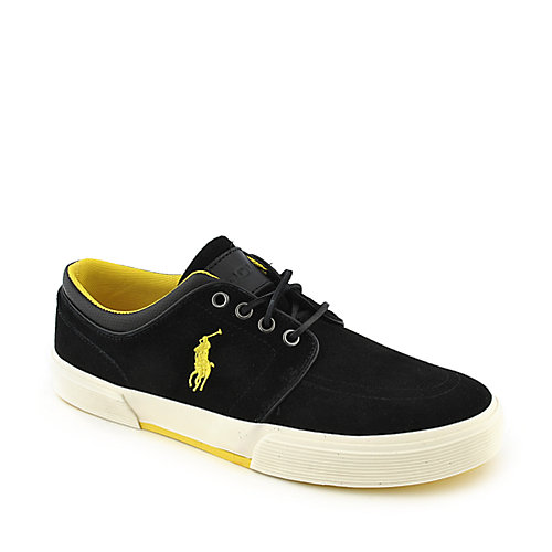 Polo Ralph Lauren Faxon Low II black suede casual lace up sneaker