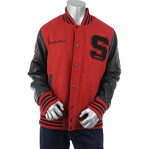 Supreme Society King of the Crowd Letterman Jacket mens jacket