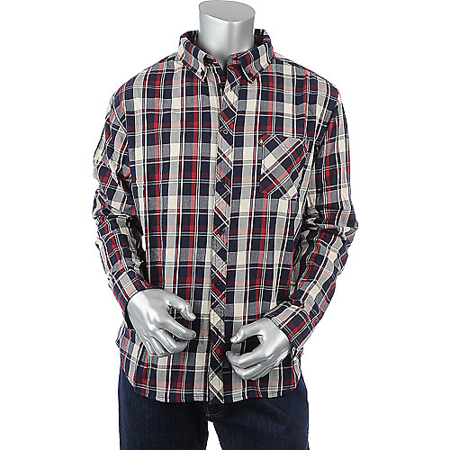 Supreme Society Long Sleeve Plaid Shirt mens button up shirt