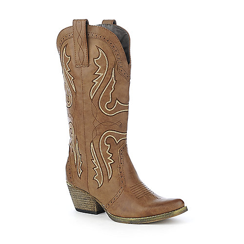 Volatile Womens Tan Boots Raspy