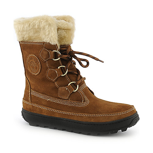 Timberland Mukluk Lace Up womens mid calf flat fur lined boot