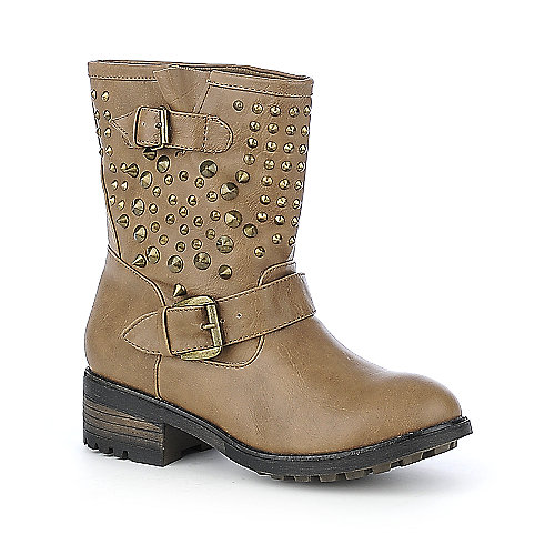 Bamboo Italo-03 womens low heel mid-calf boot