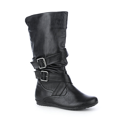 Bamboo Herbie-02 womens flat mid-calf boot