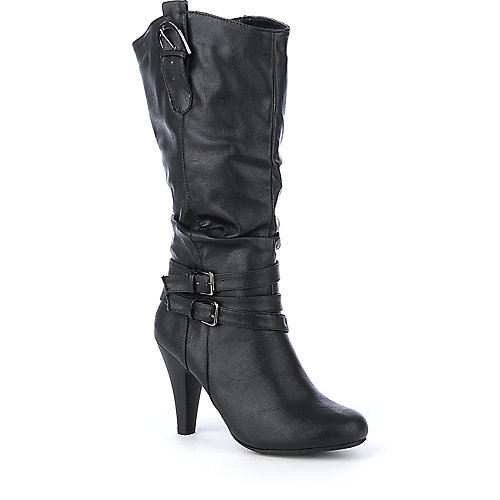 Bamboo Valencia-12 womens mid-calf high heel boot