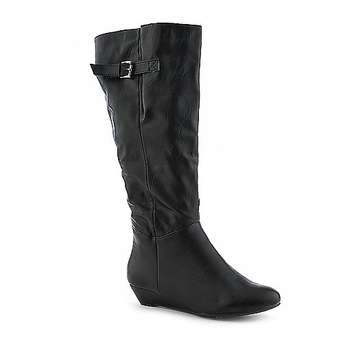 Bamboo Tamara-01 knee high wedge boot