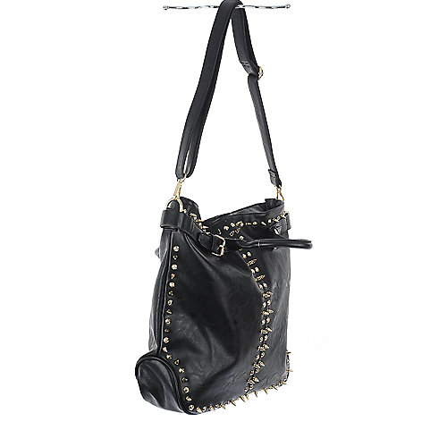 NuG Black studded hand bag