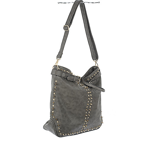 NuG Grey studded hand bag