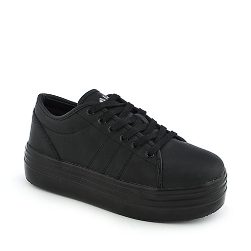 Cute to the Core Womens Blyke Low Black Platform Shoes