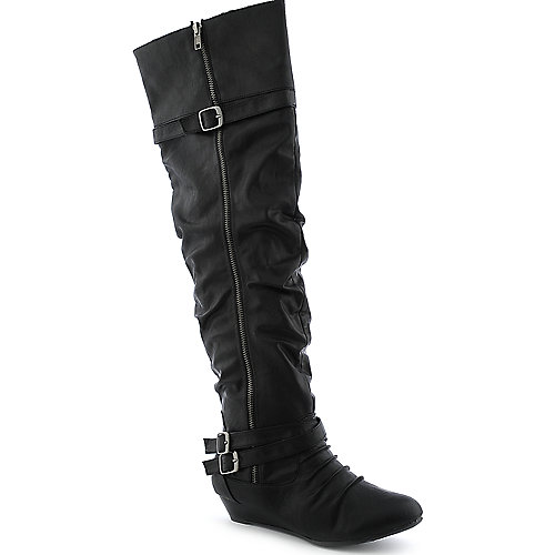 Bamboo Tamara-50 womens knee high low heel boot