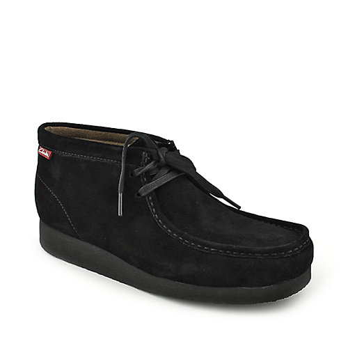 Clarks Padmore II black suede mens casual boot