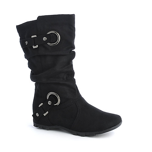 Soda Machie-S womens flat mid calf boots