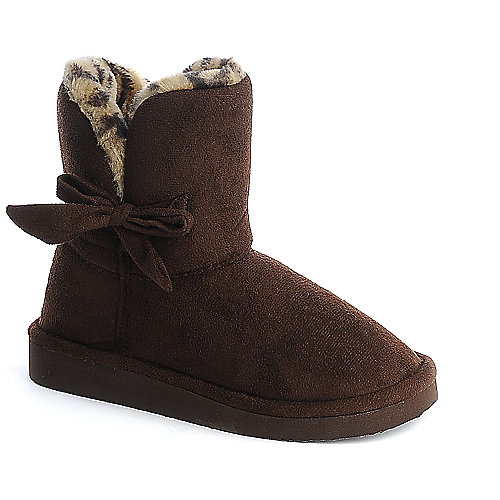 Soda Kids Lovely-IIS brown mid calf kids boot
