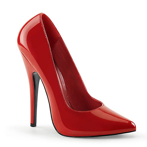 Pleaser Shoes Domina Red