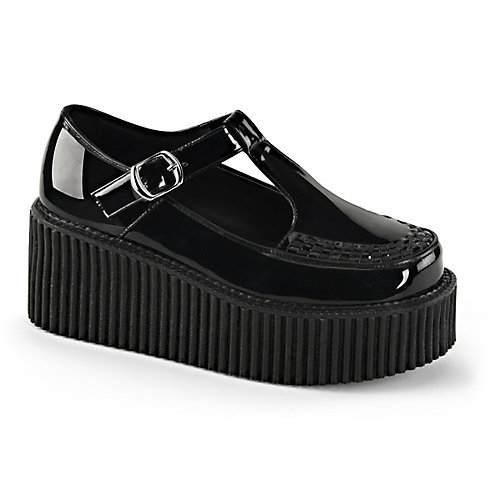 888d14bce74 Pleaser Creeper-214 Women s Black Platform Dress Shoe