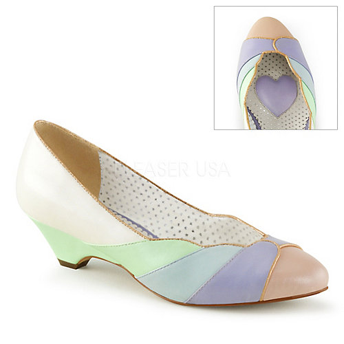 a50f04d7211 Pinup Couture Whit-Mint Multi Faux Leather Women s Lulu-05 Pumps
