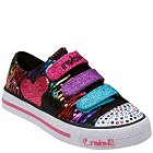 Skechers Lights- Shuffles - Triple Time (Toddler/Youth) - 10203L-BKMT