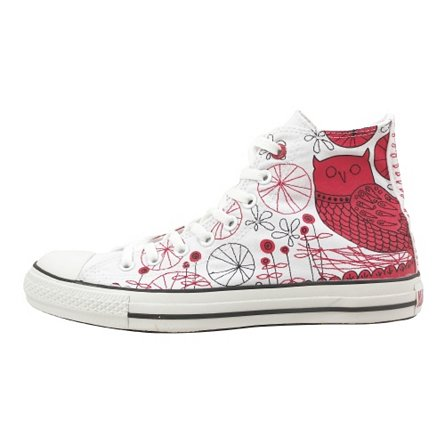 (PRODUCT) Red Chuck Taylor All Star Hi Stitched Red Owl