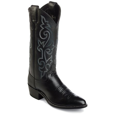Justin Boots Western Black London Calf