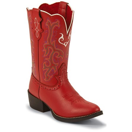 Justin Boots Western Red Deercow