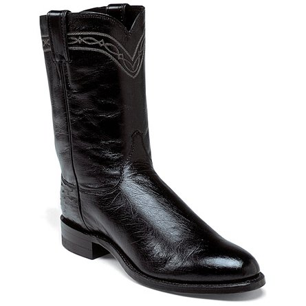 Justin Boots Exotics Black Smooth Ostrich