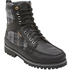 Timberland Newmarket 9-Eye Moc Toe Leather with Woolrich Fabric - 43583