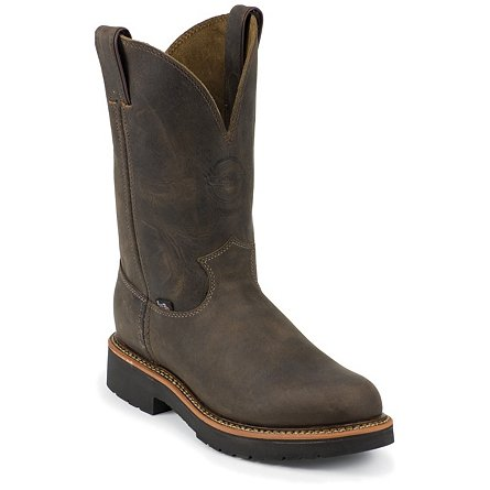 Justin Original Work Rugged Chocolate Gaucho Steel Toe