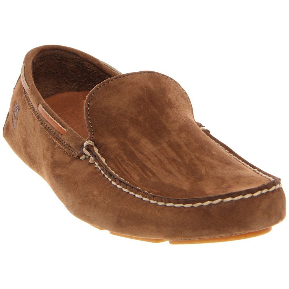 Timberland Anti Fatigue Men S Brown Leather Slip On Casual Loafer Shoes