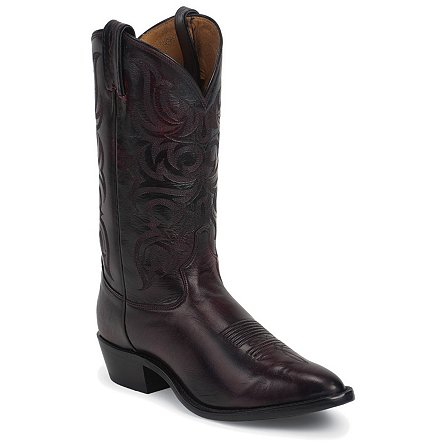 Tony Lama Black Cherry Antique Regal Calf